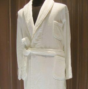 White 100% Velvet Hotel Bathrobe