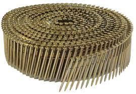 Furniture Manufacturing Iron Gold Air Roofing Coil Nail (2132)
