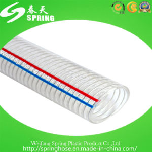 PVC Plastic Steel Wire Reinforced Water Hydraulic Industrial Discharge Hose pictures & photos