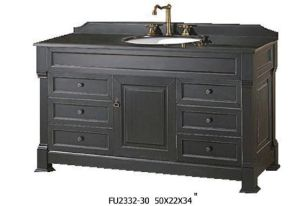 Black Finish Bath Vanity (FU2332-30)