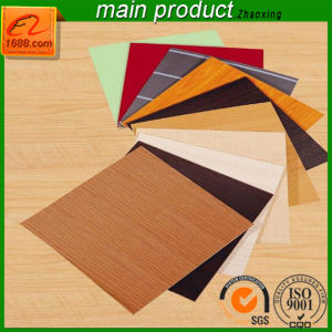 Factory Selling Smooth Film Melamine MDF with Solid Color Veneer