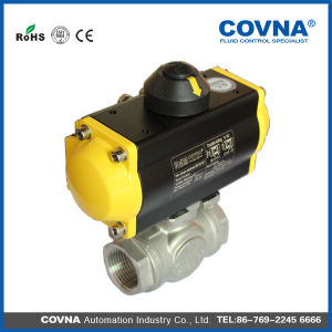 One Piece Two Way Female Threaded Pneumatic Ball Valve pictures & photos