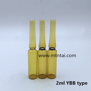 2ml Amber Color Glass Ampoule with Color Ring pictures & photos