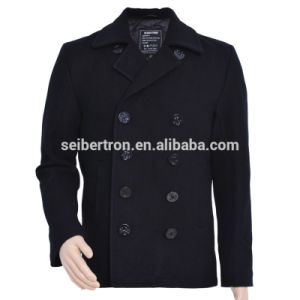 Seibertron Usn Wool Pea Coat Men′s Winter Military Wool Jacket Coat Navy Pea Coat