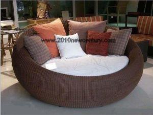 Rattan Garden Round Sun Bed (5005) pictures & photos