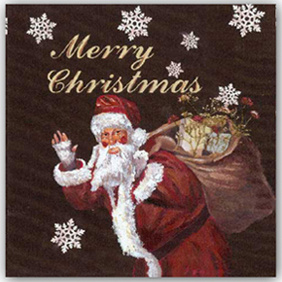 Hand Brush Stroke Canvas Oil Painting - Portrait Santa Claus Merry Christmas