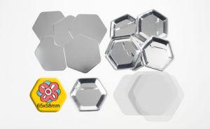 Hexagon 65X58mm Pin Button pictures & photos
