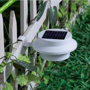 Solar Powered 3 LED Fence Gutter Light Outdoor Garden Yard Wall Pathway Lamp pictures & photos