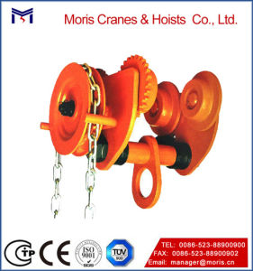 High Quality Push Hoist Geared Trolley pictures & photos