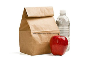 Perfect Durable Kraft Paper Lunch Bag Food Snack Storage Paper Bag pictures & photos