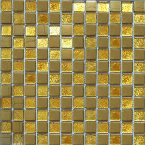 Gold Leaf Mosaic/Glass Mosaic/Stainless Steel Mosaic/Metal Mosaic (SM222) pictures & photos