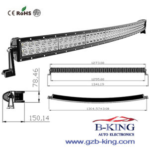 288W 50inch CREE Curved CREE LED Light Bar pictures & photos