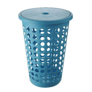 Plastic Laundry Basket with 45L Capacity pictures & photos