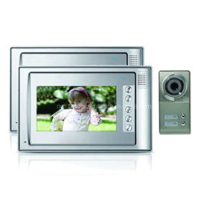 7 Inch Digital HD Color Video Intercom System for 2 Families with 600tvl Outdoor IR Camera (RX-701C4-2)