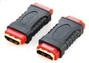 Dual Color (Black+Red) HDMI Coupler Adater pictures & photos