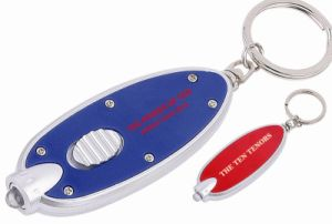 Oblong Shaped Keychain With LED Light (ZS-950)