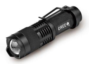 Mini Zoom Flashlight Pocket Flashlight LED Torch pictures & photos