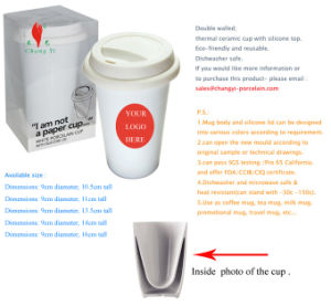 Porcelain Thermal Mug with Lid (1) pictures & photos