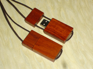 USB Flash Disk Custom Wood Flash Drive (HY-U038)
