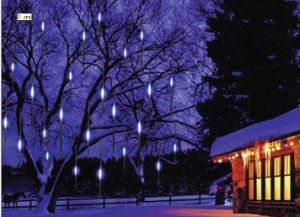 LED Meteor Shower Lights for Christmas Day Use (10PCS 60 cm Tubes / Sets)