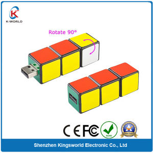 1GB Plastic Rubiks USB 2.0 with Custom Sticker Painting (KW-0040) pictures & photos