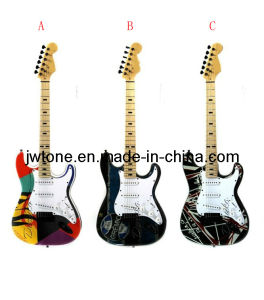 Special Design Decal on Body Top St Electric Guitar pictures & photos