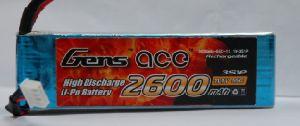Gens Ace Lipo 2600mah 11.1V 55C 3s1p
