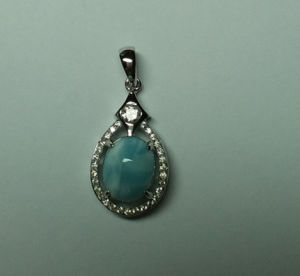 Natural Larimar Sterling Silver Pendant (P0345) pictures & photos