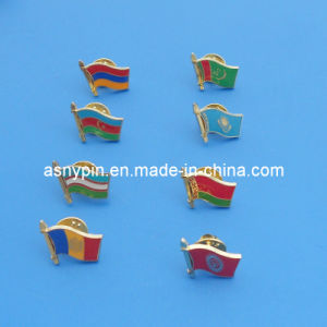 Metal Soft Enamel Country Flag Lapel Pin Badge pictures & photos