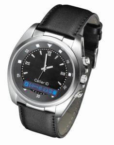 Bluetooth Watch With Leather Strap + Vibration and Caller ID Display (JTB-011)