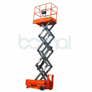3.8m Electric Scissor Lift with Ce Certificate pictures & photos
