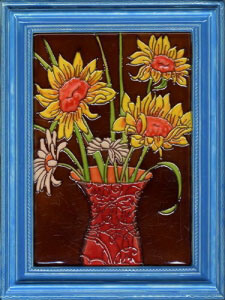 Ceramic Framed Decorative Painting 270x350mm (CF01) pictures & photos