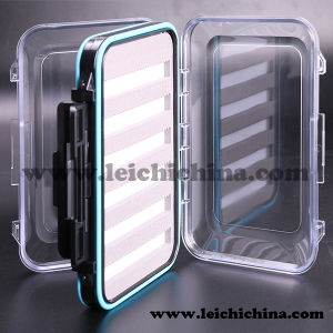 Waterproof Double Side Clear Lid Plastic Fly Box with Foam pictures & photos