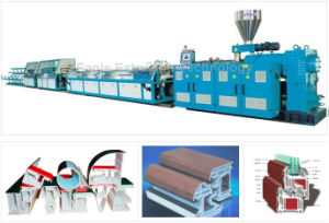 PVC Windows and Door Profiles Extrusion Line pictures & photos