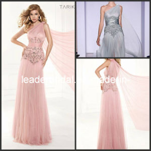 A-Line Prom Dress One Shoulder Pink Silver Beading Tulle Party Cocktail Evening Dresses T92384 pictures & photos