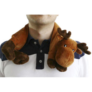Hot Cold Ice Gel Pack for Pain Relief Beneficial to Human Body Health Animal Deer Neck Pillow (p20093)
