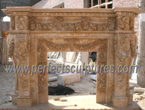 Marble Fireplace Mantel for Stone Fireplace (QY-LS224) pictures & photos