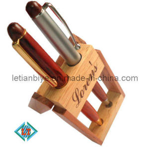Wooden Pen Set with Wood Pen Stand (LT-A059) pictures & photos