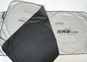 Nylon Front Sunshade with Two Circles Usf4065