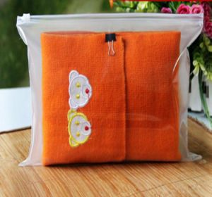 Clothes PE Zipper Bag with Logo Printing pictures & photos