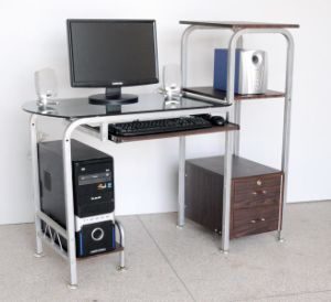 Glass Steel Computer Desk with Hutch (YH-084) - China Computer Desk