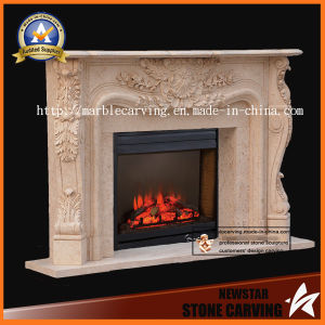 Natural Fireplace Surround Statues Fireplace Mantel MF-030 pictures & photos