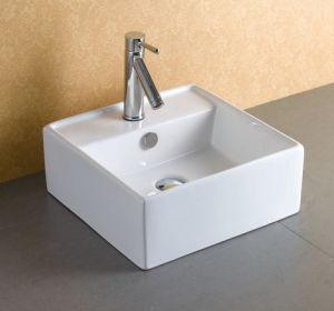 Square Shape Countertop Ceramic Basin