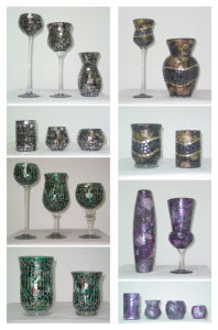 Elegant Mosaic Glass Candle Holder/ Vase (DRL06052-6053) pictures & photos