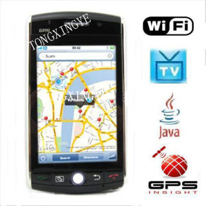 WIFI Quad Band GPS Dual Camera FM TV Touch Screen Cell Phone, F530(9500)