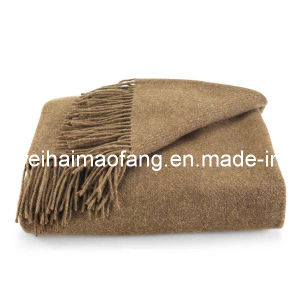 100%Cashmere Fringed Blanket pictures & photos
