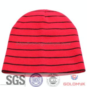 Red Strip Acrylic Ski Hat (GKA0401-B00008) pictures & photos
