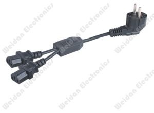 Germany Style Schuko Y Splitter Power Cord pictures & photos