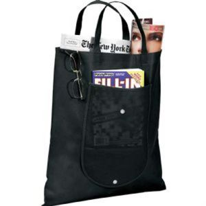 Black Foldable Non-Woven Tote Bag pictures & photos