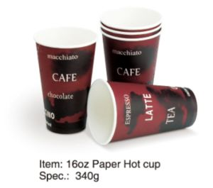 Single Wall Paper Hot Coffee Cup 8oz / 12oz / 16oz pictures & photos